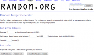 online number generator