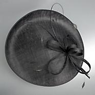 jasper conran black saucer fascinator