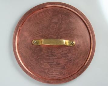 clean copper saucepan