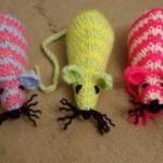 battersea knitted mice
