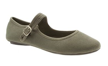 Khaki plain strap shoes - Debenhams shoe sale