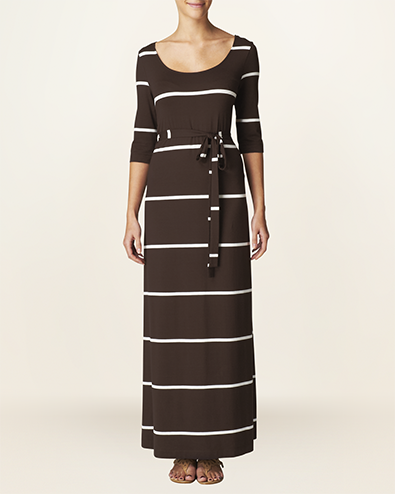 amy stripe maxi dress