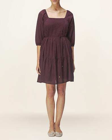 cotton pintuck dress