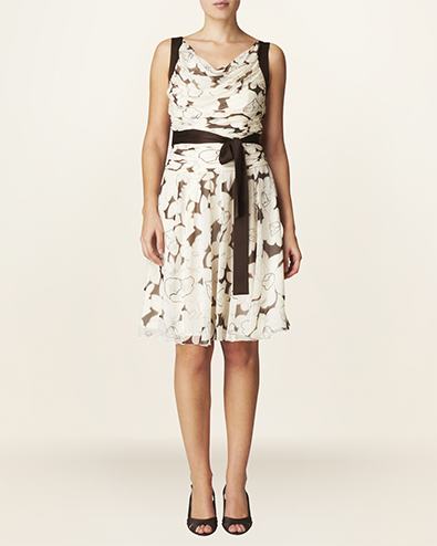 delphine print dress