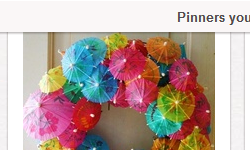 cocktail umbrella door wreath