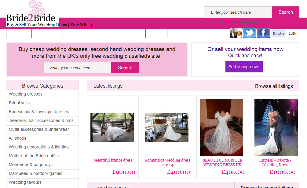 Website To Sell Wedding Dress