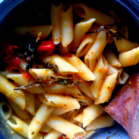 roast tomatoes and pasta