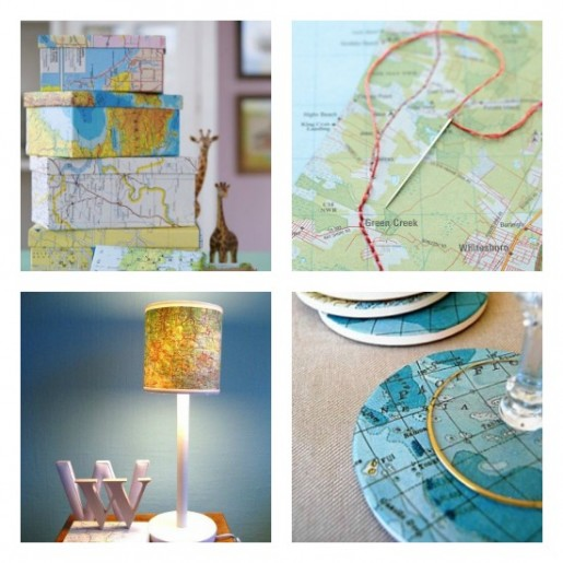 upcycle old maps