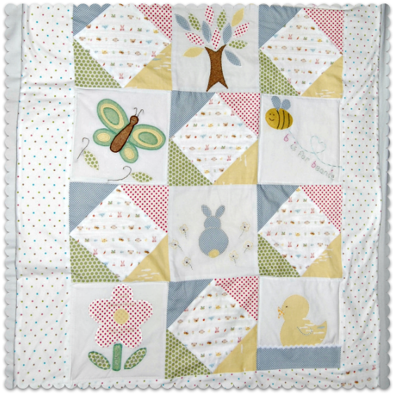 baby shower quilt gift