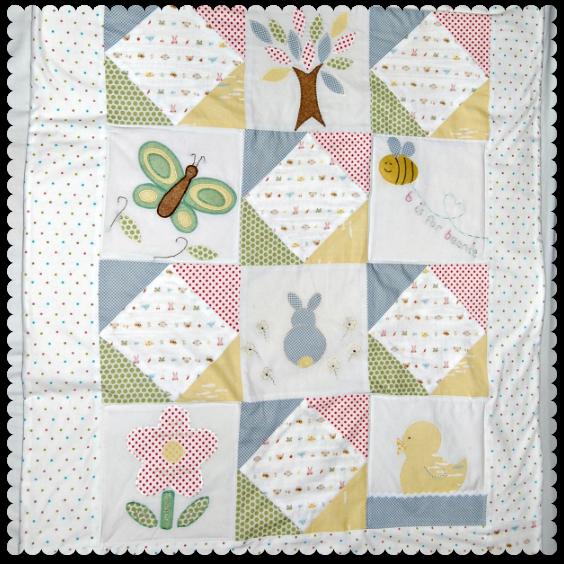 baby shower quilt gift