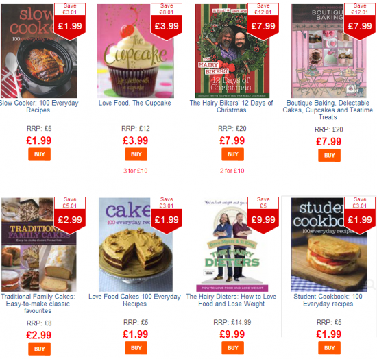 cheap cookery books