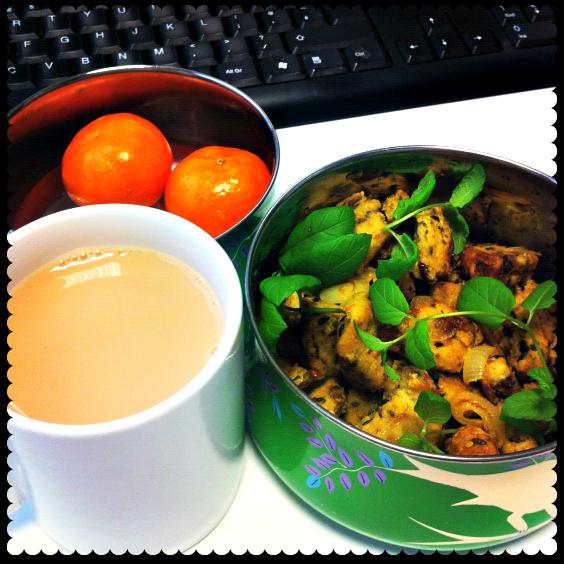 bread bhurji breakfast