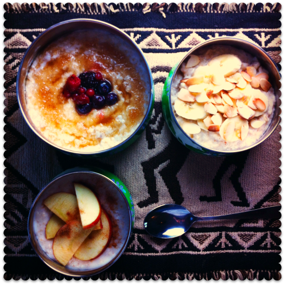 porridge three ways