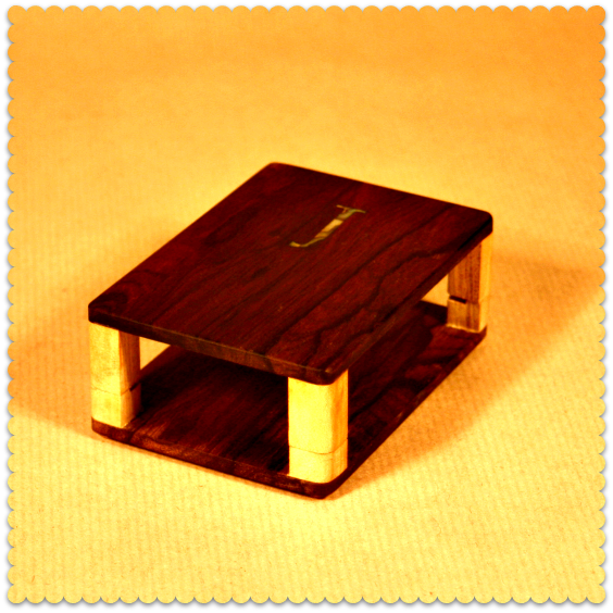 wood raspberry pi case
