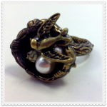 cherry baby bird's nest ring