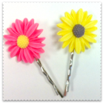 cherry baby daisy hair grips 1