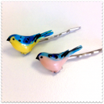 cherry baby tweetybird hair grips