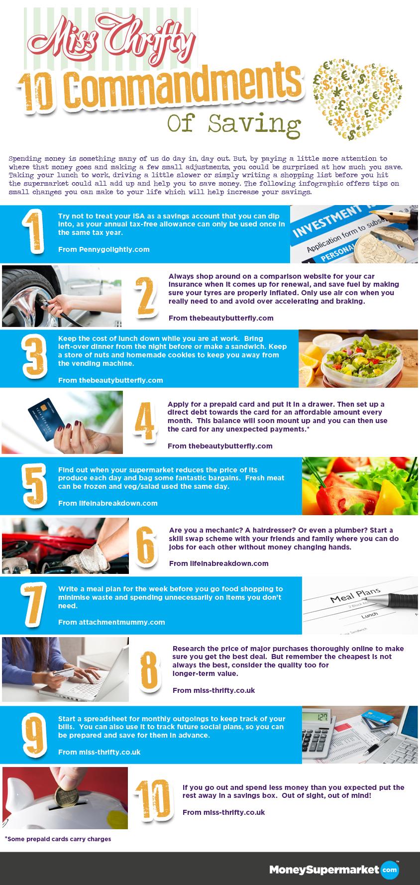 10 commandments of saving