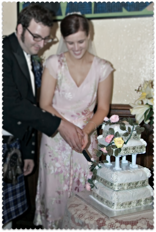 thrifty wedding cake