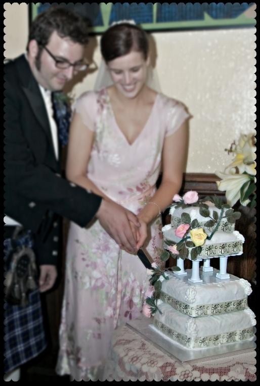 thrifty wedding cake