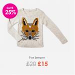 fox jumper sainsburys
