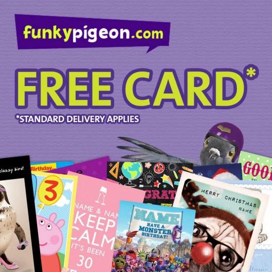free funky pigeon card