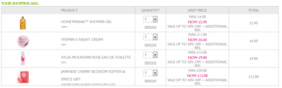 body shop discount code