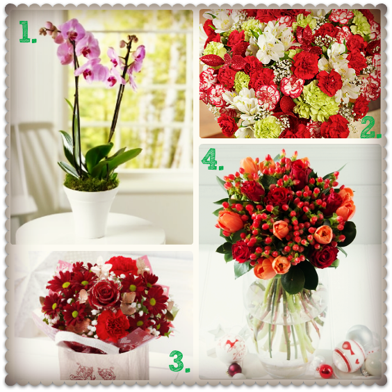 christmas flowers delivered - discounts