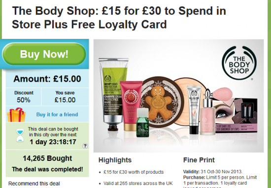 groupon body shop voucher