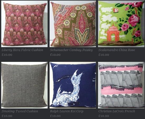 discount designer cushions