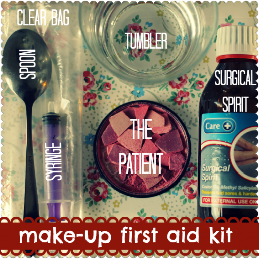 make-up first aid kit