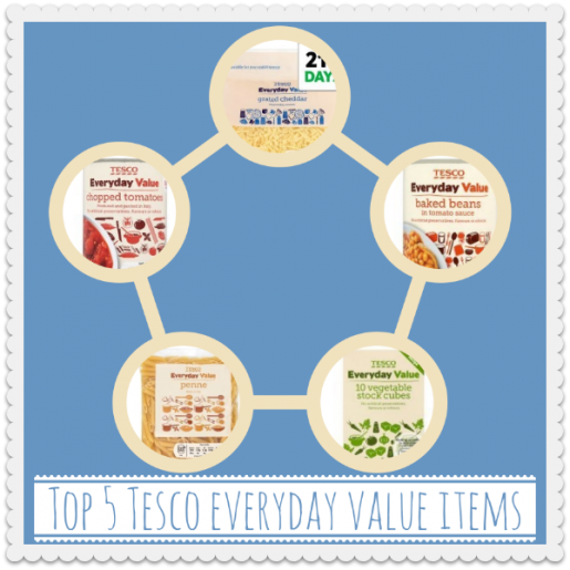 Top 5 Tesco everyday value items