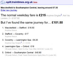 how to split train tickets