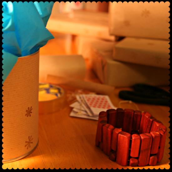 christmas brown parcel paper